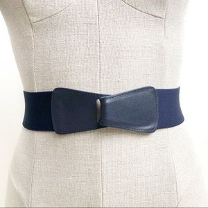 Vintage Hook Clasp Elastic Belt Size